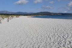 Ein ewig langer Strand mit Blick von Sant Anna Richtung Budoni